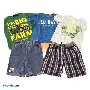 Boys Summer Shorts & T-shirt Bundle Size 5/6